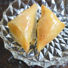 Sweet kaymak triangles